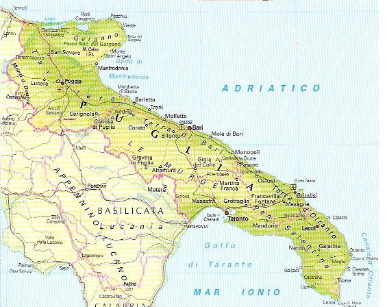 Cartina Puglia Altamura.Brigantaggio In Puglia Le Vie Del Brigantaggio